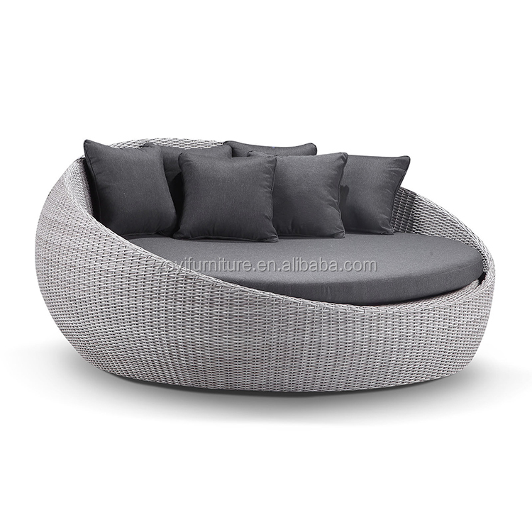 Large Outdoor Wicker Round Daybed