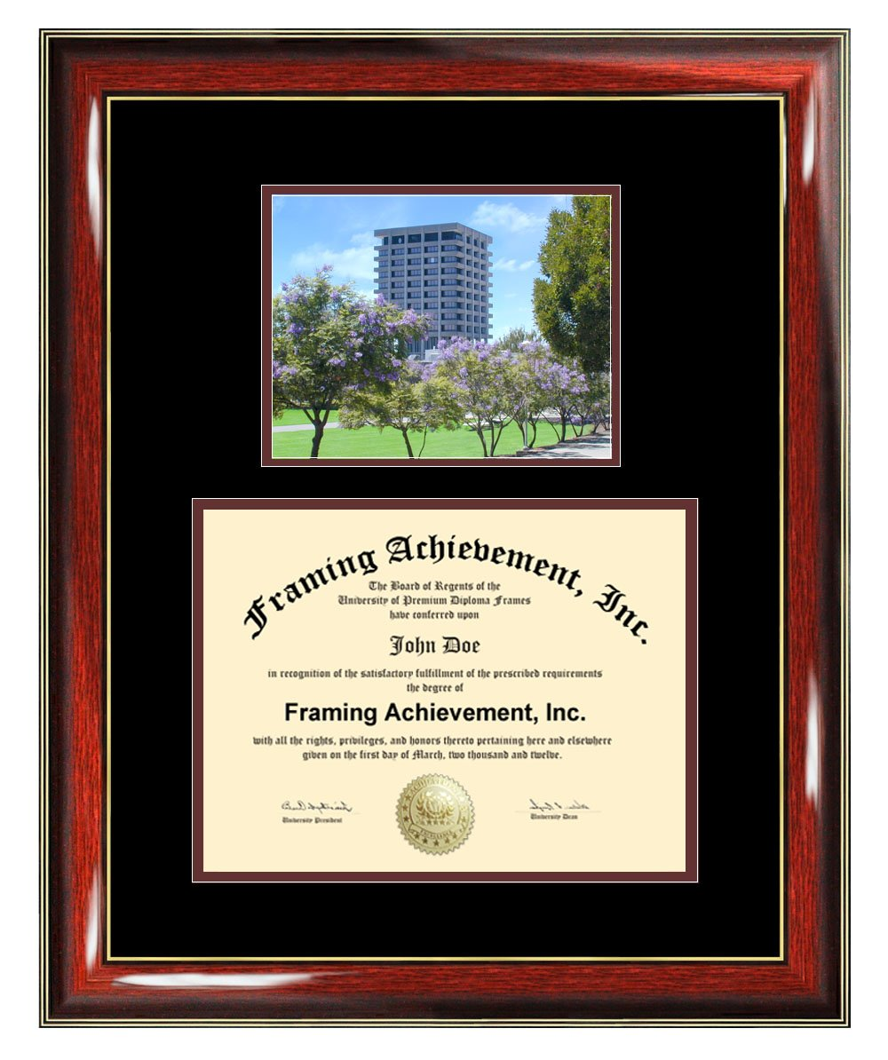California State University East Bay formerly Hayward Diploma Frame - CSUEB Graduation Degree Frame - Matted College Photo Graduation Certificate Plaque University Framing Graduate Gift Collegiate