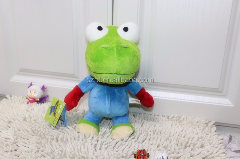 Hot selling pororo plush toy big eye green dinosaur/baby dinosaur plush toy/custom dinosaur plush toy