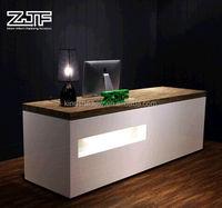 2016 Modern beauty salon reception desk/office front desk counter/hotel reception counter design