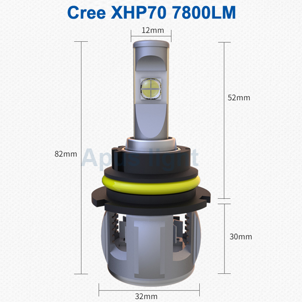 Original CR. EE 120W 15600LM XHP70 9004 9007 led phare de voiture