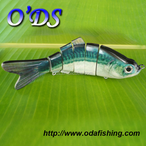 Wonderful swim action lifelike hard lure six section shad koi fish
