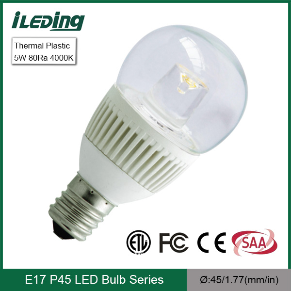 5w 4000k Supper Bright E17 Led Light Bulb P45