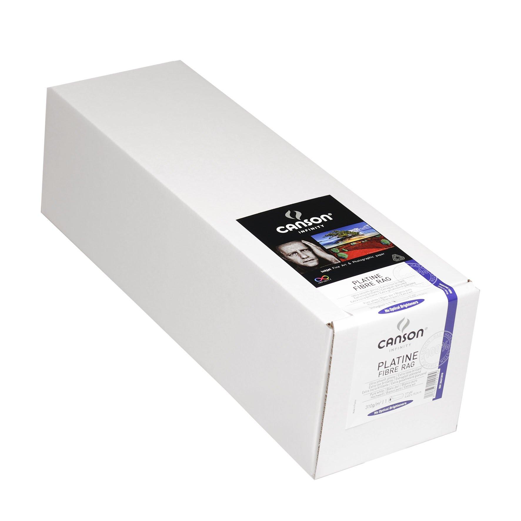 Canson Infinity Platine Fibre Rag Art Paper, 310 Gram , 17 Inch x 50 Foot Roll