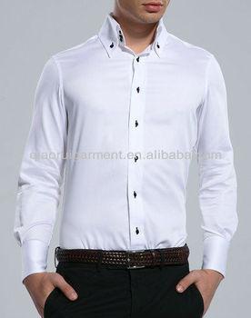 nouveau concept f6e8d 89e0c Homme Blanc Slim Fit Trois Bouton Col Robe Chemise - Buy Chemises À 3  Boutons,Chemises De Style Italien Pour Hommes,Chemise À Trois Boutons  Product ...