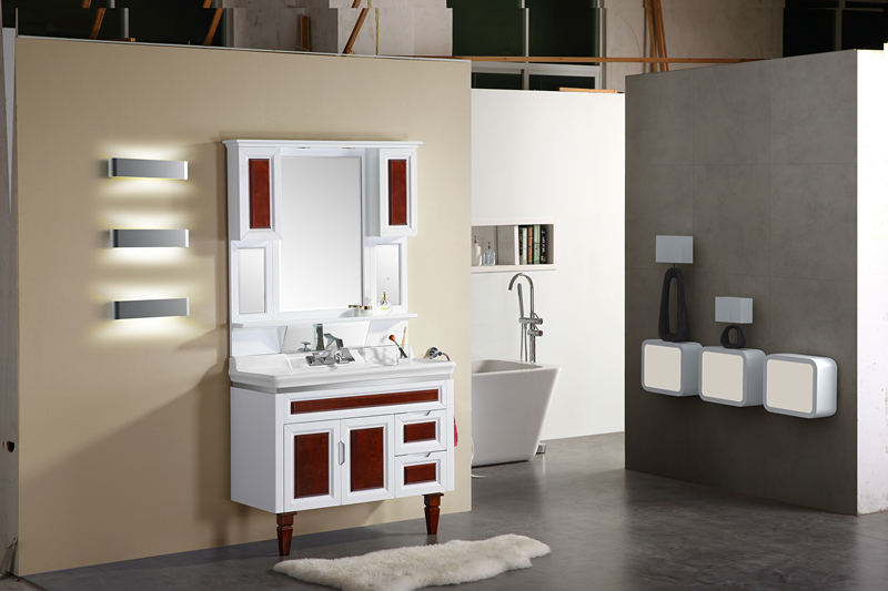 toilet Multi-layer solid wood cabinet XL-3072
