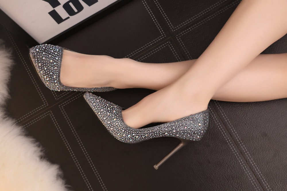 New crystal bottoms high heels