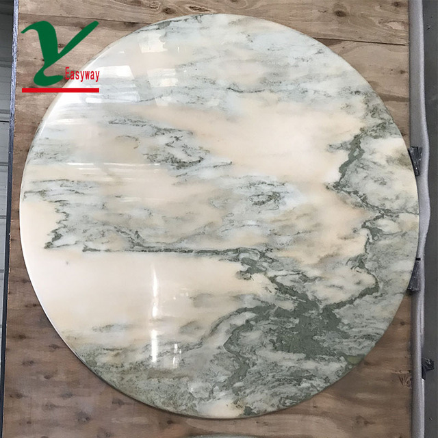 Easyway Round White Marble Table Tops Replacement