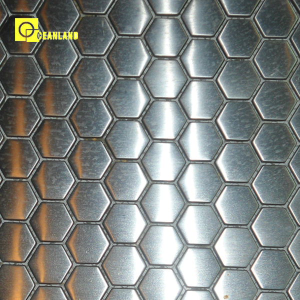 pure color glossy stainless steel metal silver mosaic tile