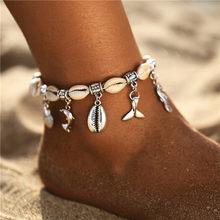 Женские браслеты с подвеской в виде морской звезды, богемные браслеты в виде ракушек с каменными бусинами, богемные ювелирные изделия в сти...(Китай)