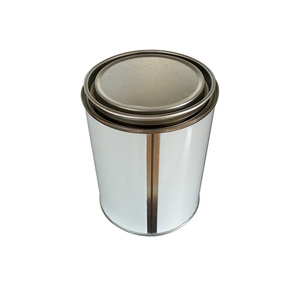 1pt custom tin plate can for paint or glue