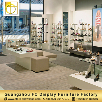 Modern Style Commercial Wall Mount Retail Showroom Shoes Display