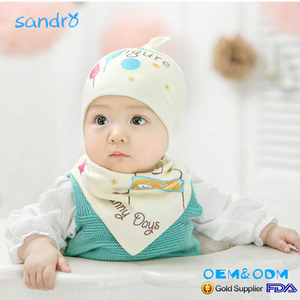 China Supplier Wholesale Baby bibs,baby hat,baby sets