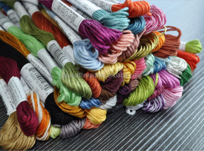 100% cotton Thread, anchor color cross stitch embroidery thread