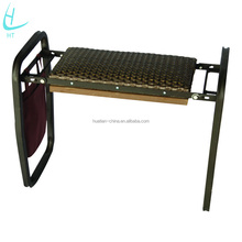 Folding garden seat and kneeler,garden tool