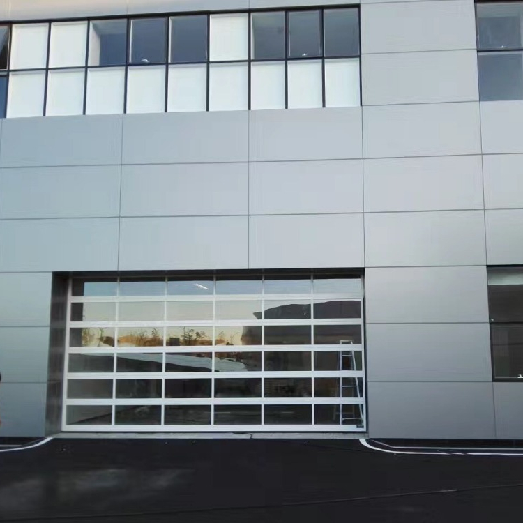 Automatic see-through clear insulated glass panel garage door prices