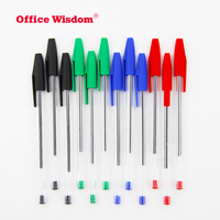Office Wisdom Promotional Plastic ballpoint pen wholesale cheap ball point Pen for Office School stationery supplies