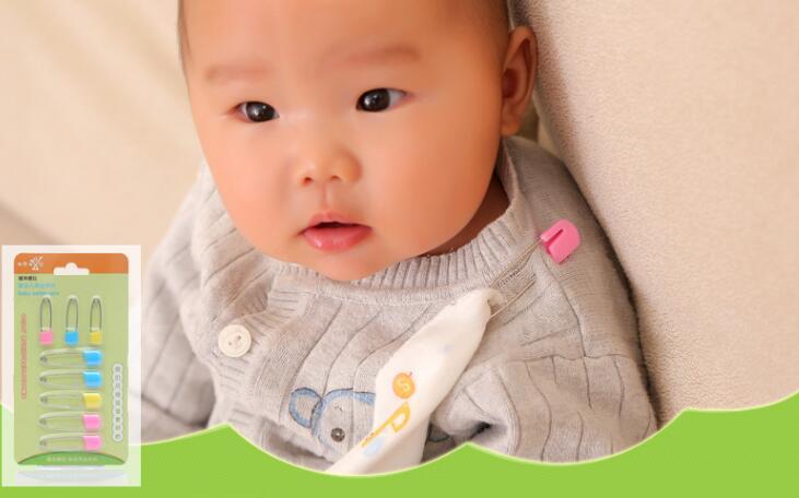 Булавки 8 шт. в много нового безопасность ткань из нержавеющей стали ребенка нагрудники фартук пеленки платок булавки высокое качество