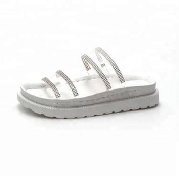 47fba397c Factory wholesale fashion rhinestone Slide Slippers transparent slides soft  platform Sandals
