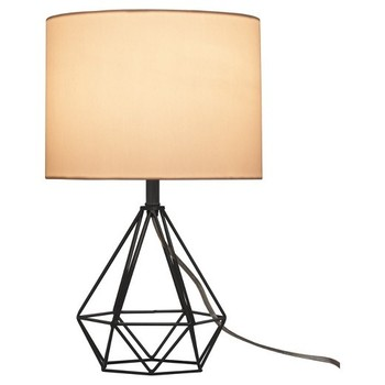 OEM Wholesale industry Metal Base Fabric Shade E26 Table Lamp for Home Decoration