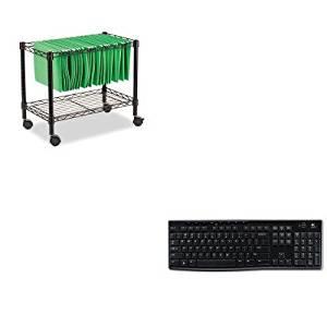 KITALEFW601424BLLOG920003051 - Value Kit - Best Single-Tier Rolling File Cart (ALEFW601424BL) and LOGITECH, INC. K270 Wireless Keyboard (LOG920003051)