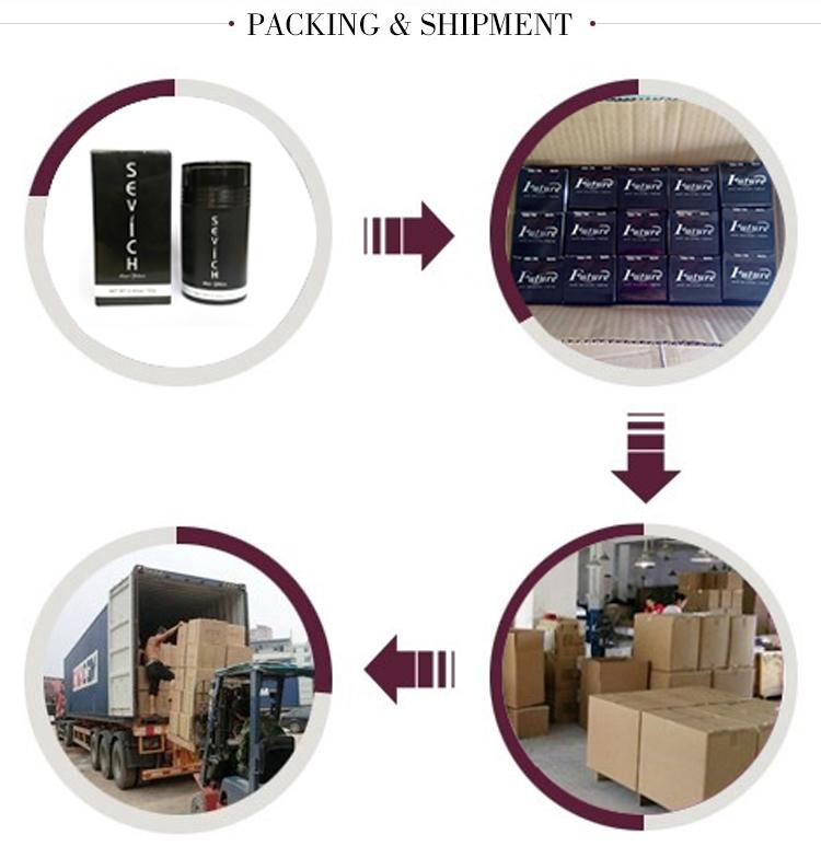 Best selling 1 kg 500g 100g private label keratine haargroei fiber navulling in bulk