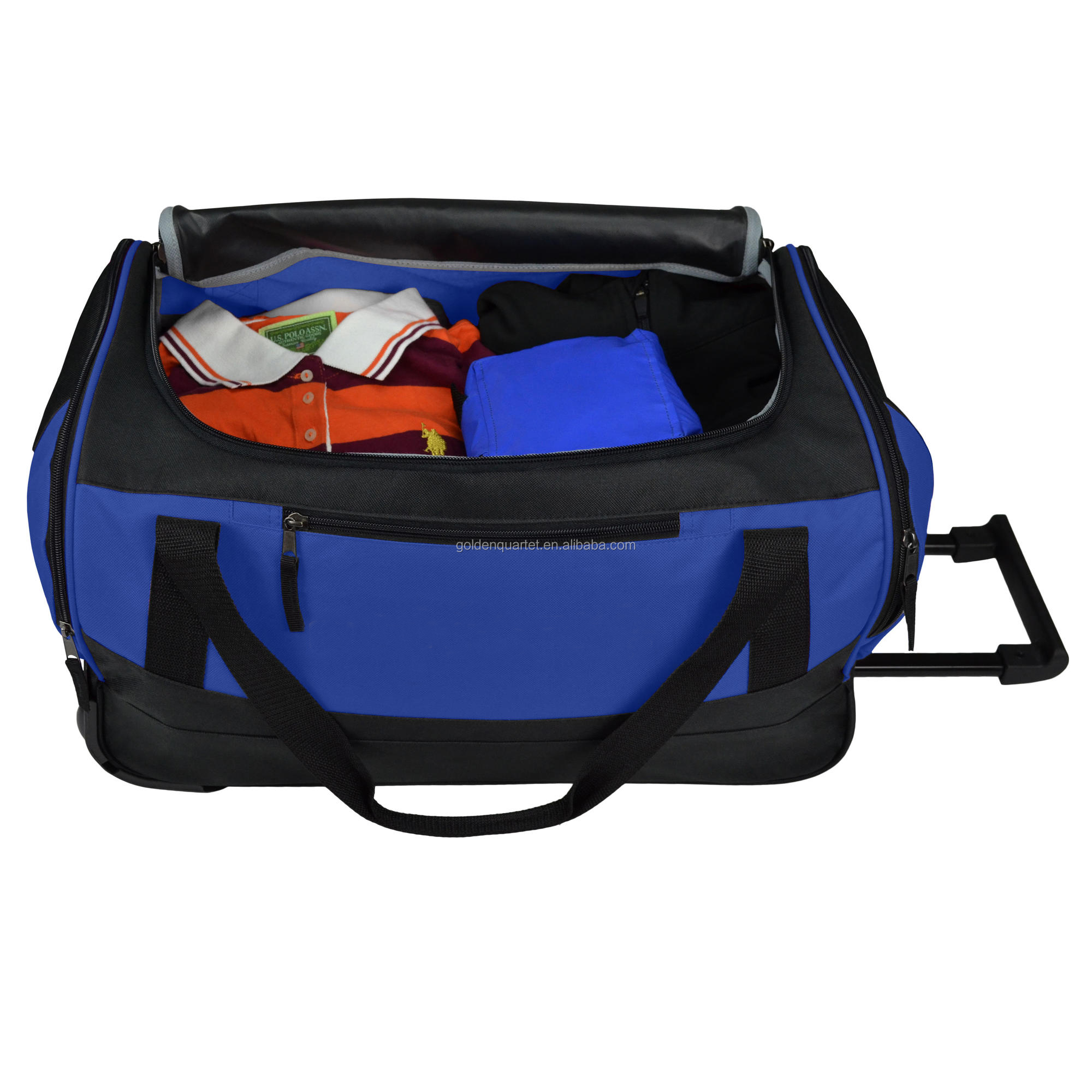 Business Rolling Travel Duffel Bag with Two Wheels wheeled market trolley bag