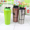 Stainless Steel Protein Shaker Cup Shaker Bottle Built-in Mixer Customized Logo 750ml+200ml