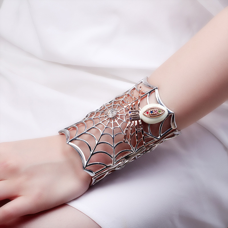 Spider Cuff Bracelet for Costume Jewelry