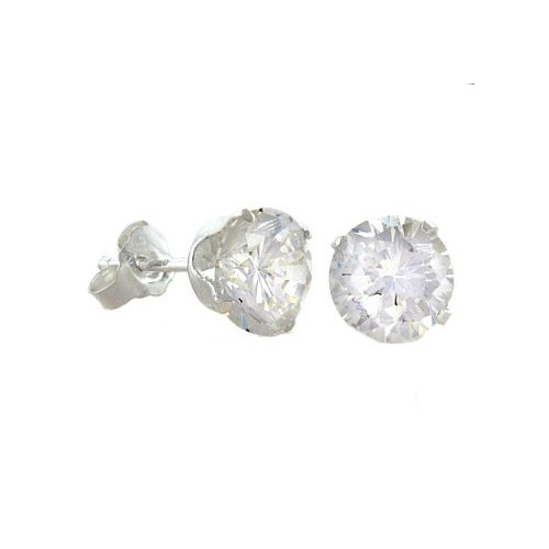 simple design jewelry chinese princess cz stone stud earring cheap silver jewellery