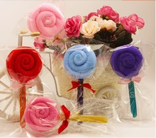 Cute Lollipop Washcloth Bridal Baby Kid Shower Wedding Party Favor Small Towel