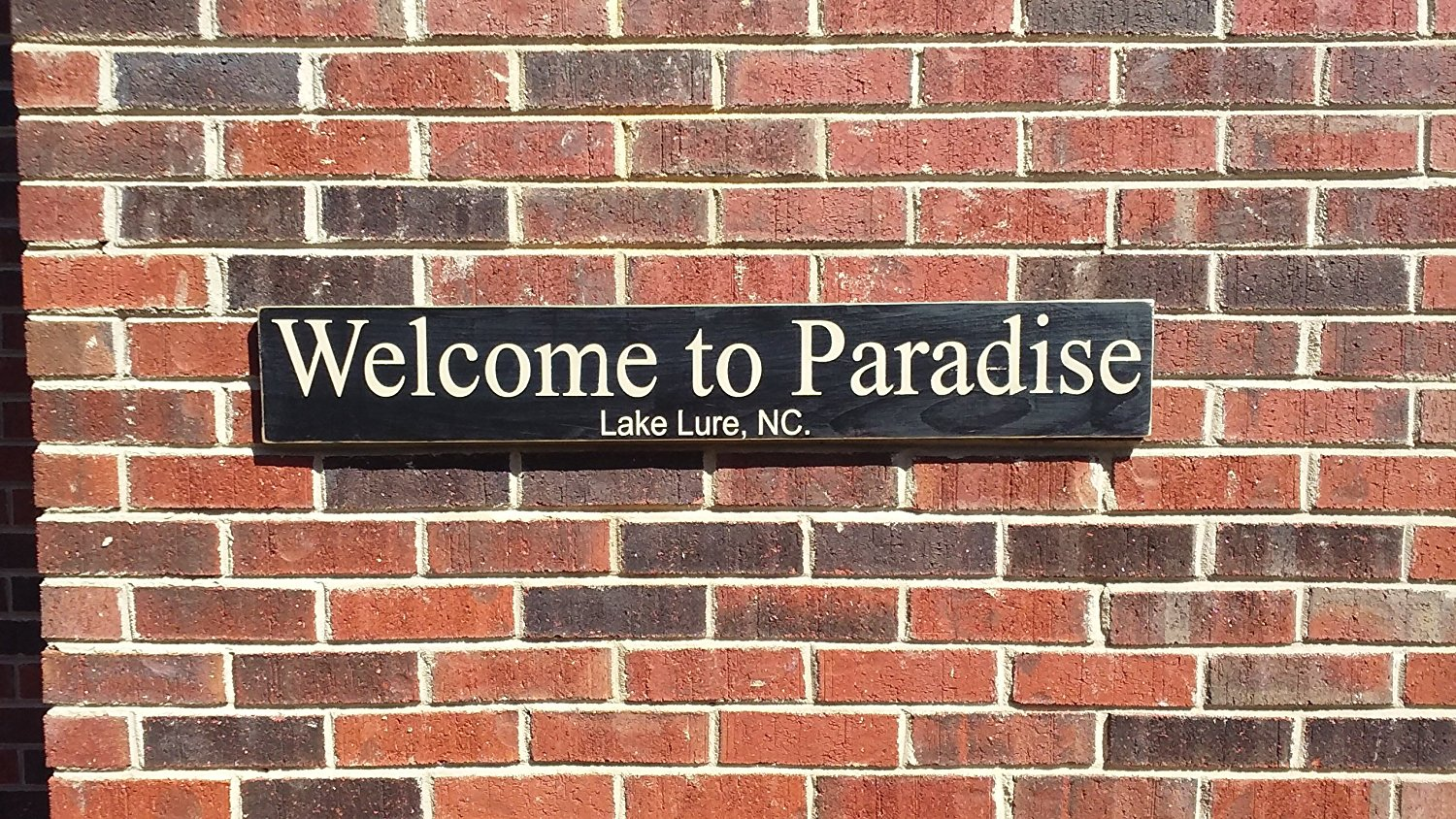 Welcome to Paradise hand painted custom wood sign, distressed rustic wood sign for man cave or home decor.