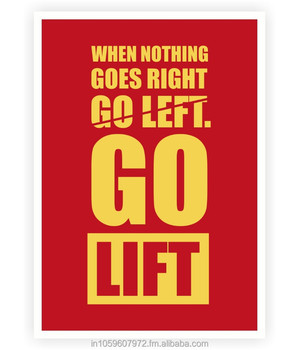 When Nothing Goes Rightgo Lift Gym Motivational Quotes Poster Buy