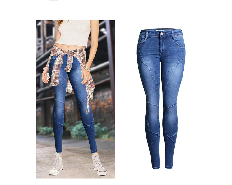 ozx 392 ladies skinny jeans top design