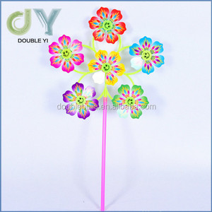 Hot sale colorful Clip Plastic Windmill toys garden decorations
