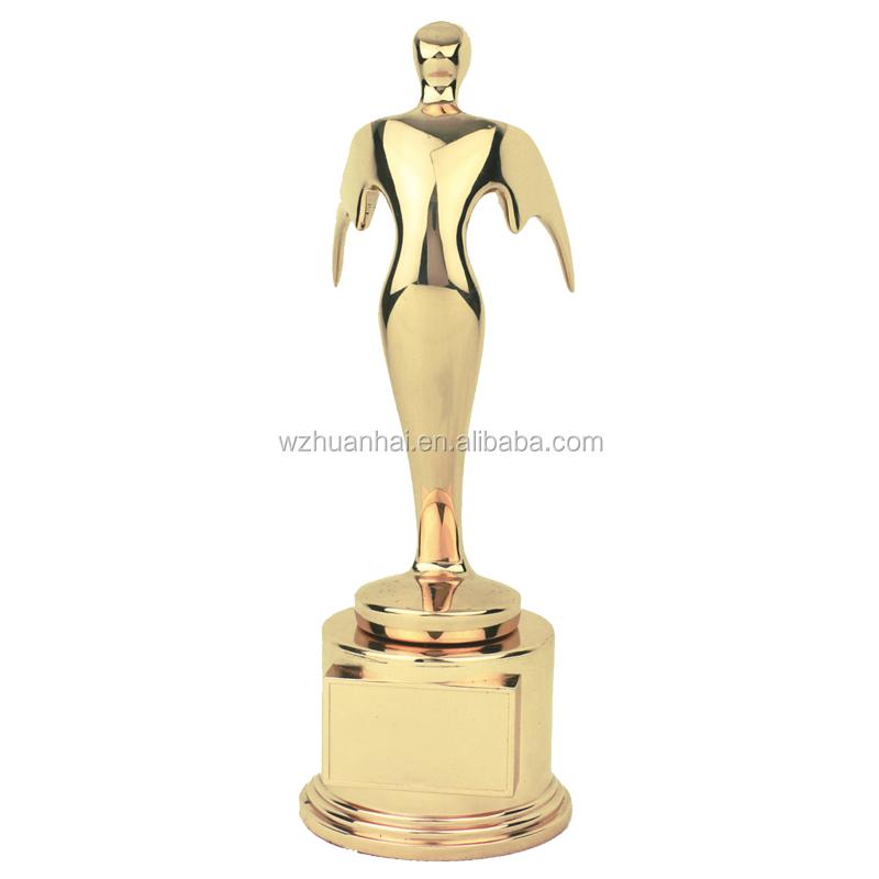 China produto de metal personalizado em branco esportes anjo dragão boxe troféus projeto