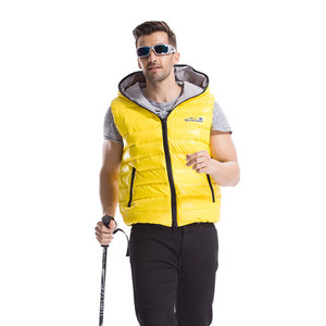 90% duck down high quality hooded down-wear vest