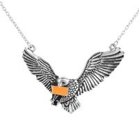 new arrival free sample HarryPotter Raven Crawhead's Pigeon Necklace Alloy plating personalized pendant necklace jewelry