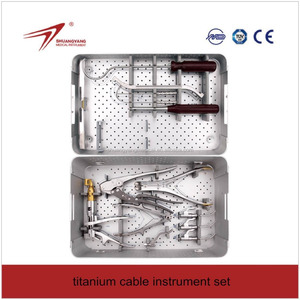 Orthopedic Surgical Instruments Set for titanium cable cerclage wire names of orthopedic surgical instruments
