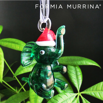 Garden Ornaments And Accessories Handmade Clear Glass Elephant Ornaments