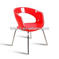 Cheap plastic chair upholstered dining chairs for living room