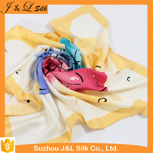 Wholesale Colorful Digital Printing Silk Scarf Square