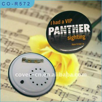 Customized Music Badge with Pin back for promotion gifts