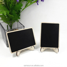 Table Number Sign Mini Wooden Chalkboard With Stand
