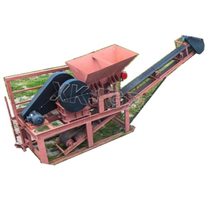 Afraic best sales Fixed stone crusher with vibrating Feeder and Belt conveyor