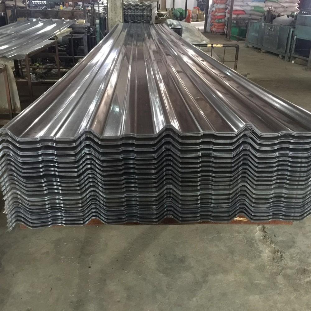Feuille de toit ondulée transparente de pvc/tuile claire de pvc/feuille de toiture en plastique ...