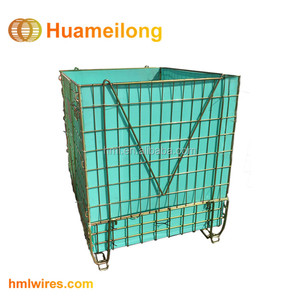 Stackable storage foldable metal steel wire cage for PET Preforms