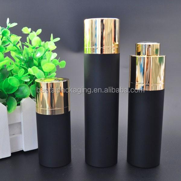 30ml Matte Black Airless Pump Bottle For Essential Oil