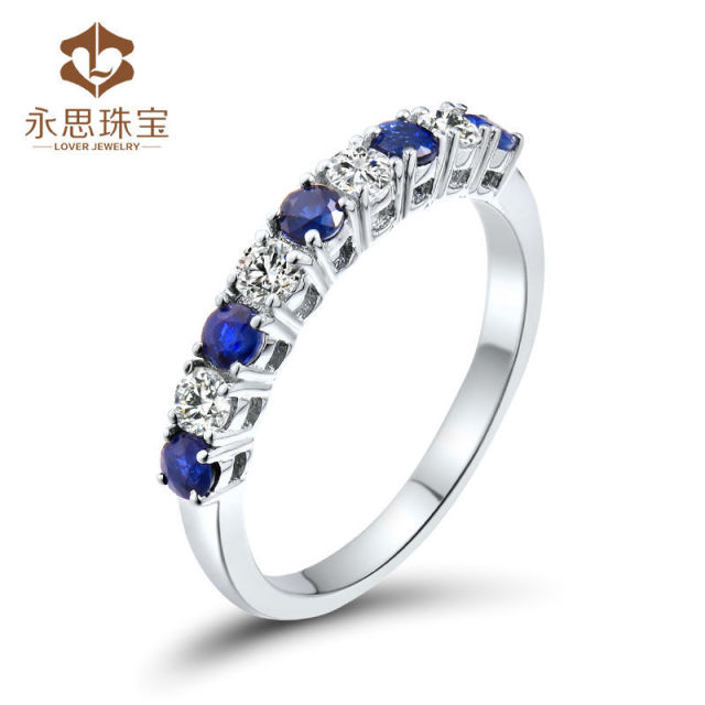 diamond real sapphire ladies gold ct ring ecommerse index yellow