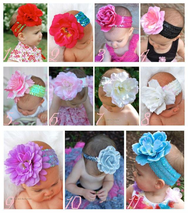 Comercio al por mayor 2013 top bebé vinchas vinchas de flores accesorios para el cabello del